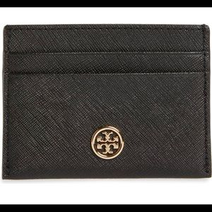 [Tory Burch] Black Robinson Leather Card